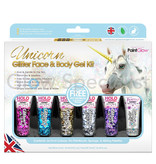 - PaintGlow PAINTGLOW UNICORN GLITTER FACE & BODY GEL KIT