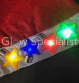KERSTMUTS MET KNIPPERENDE LED STERREN/LAMPJES