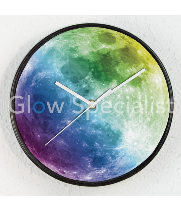 GLOW IN THE DARK CLOCK - FULL MOON - Ø25 CM