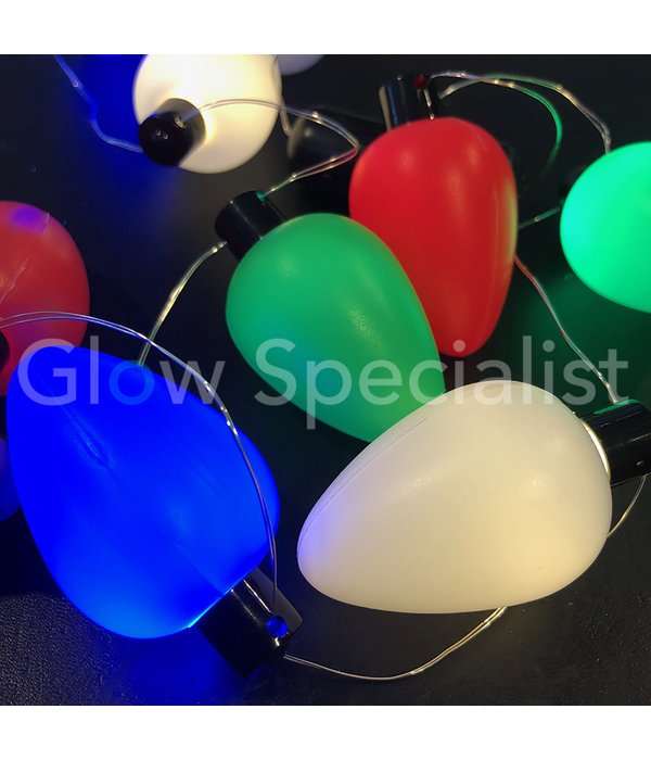 FLASHING LED NECKLACE WITH 9 COLORED LIGHT BULBS