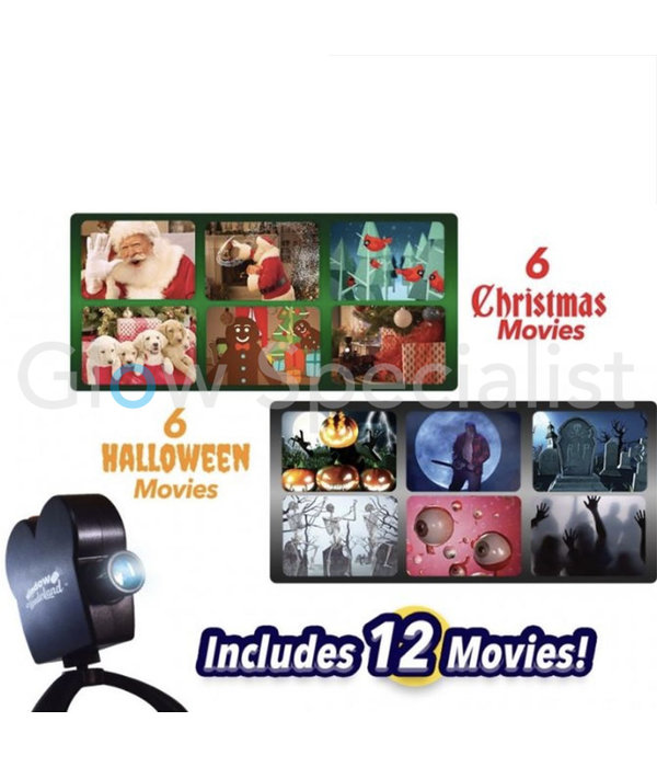 WINDOW WONDERLAND VIDEO PROJECTOR - HALLOWEEN & CHRISTMAS