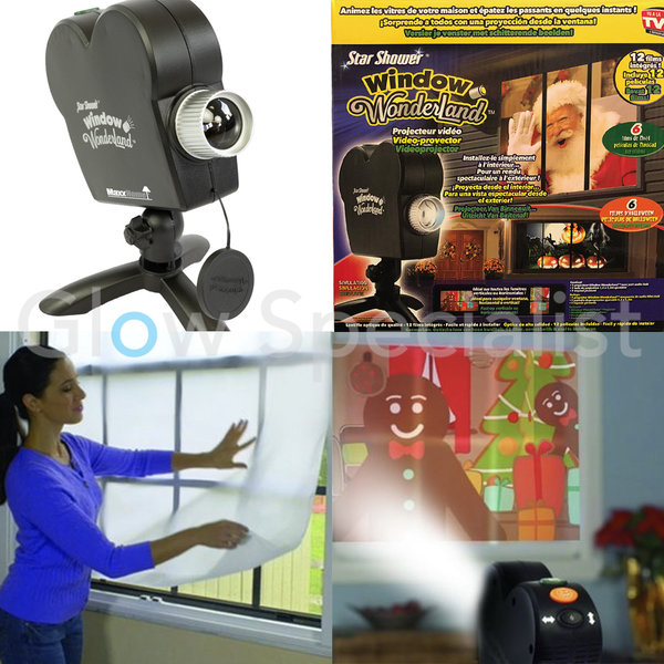 WINDOW WONDERLAND VIDEOPROJECTOR - HALLOWEEN & KERST
