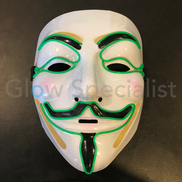 EL WIRE ANONYMOUS - V FOR VENDETTA MASKER - GROEN