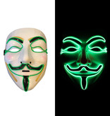 EL WIRE ANONYMOUS - V MASK FOR VENDETTA - GREEN