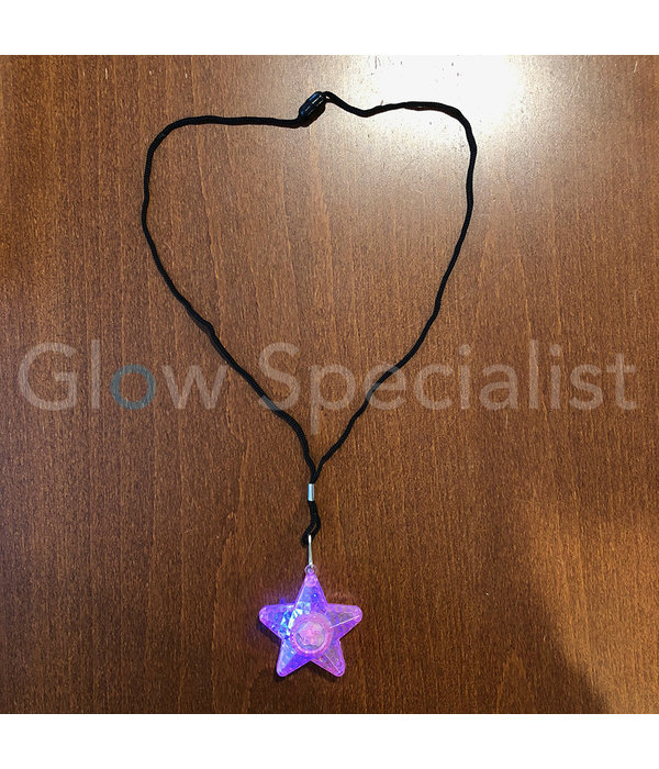 LED NECKLACE WITH FLASHING STAR