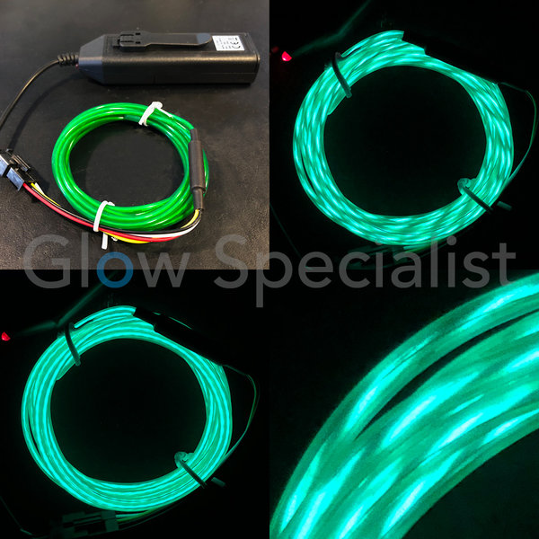 EL-WIRE WITH MOTION EFFECT - 2 M - WITH INVERTER - GREEN