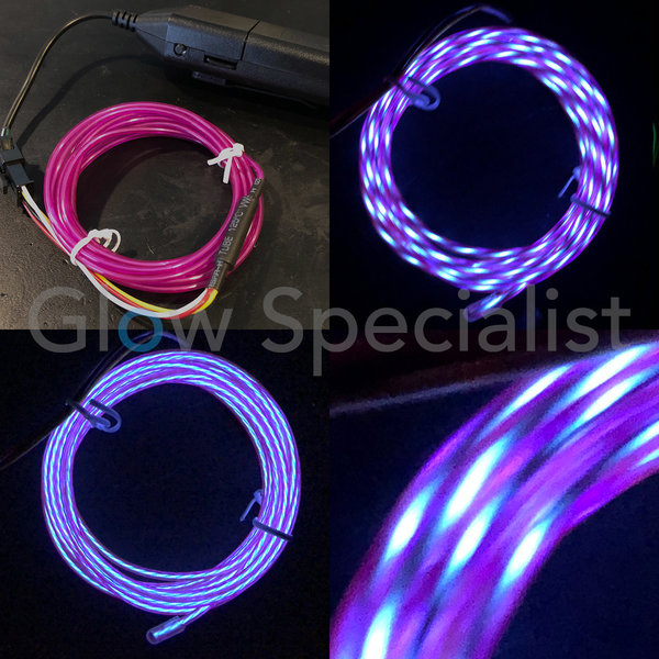 EL-WIRE WITH MOTION EFFECT - 2 M - WITH INVERTER - PURPLE