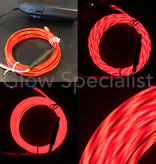 EL-WIRE WITH MOTION EFFECT - 2 M - WITH INVERTER - RED