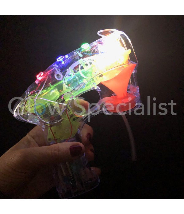 BUBBLE GUN WITH LIGHT