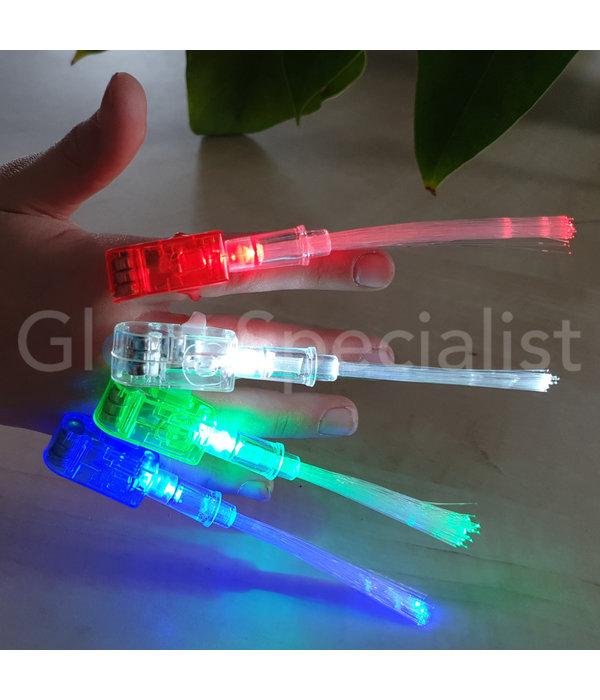 - Glow Specialist VINGERLICHTJES MET FIBERSTICKS - TRAY VAN 50 STUKS