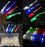 - Glow Specialist VINGERLICHTJES MET FIBERSTICKS - TRAY VAN 100 STUKS - MET 4 KLEUREN