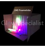 LED FOAM STICKS - MULTICOLOR - DOOS MET 240 STUKS