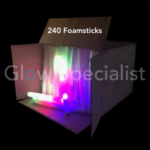 LED FOAM STICKS - MULTICOLOR - DOOS MET 240 STUKS