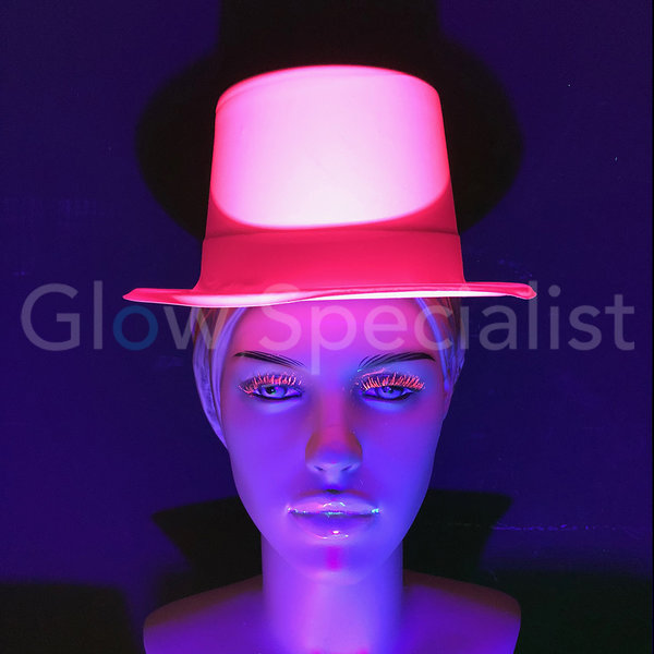 UV / BLACKLIGHT TOP HAT - NEON PINK