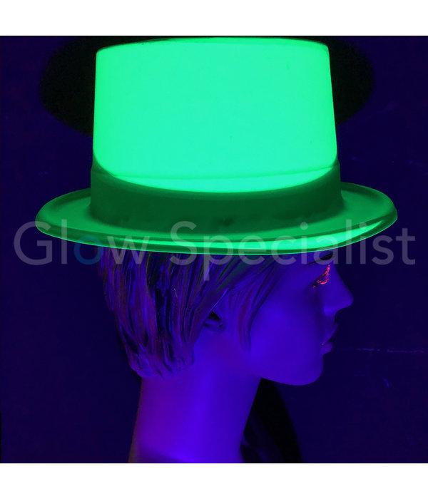 UV / BLACKLIGHT HOGE HOED - NEON GROEN