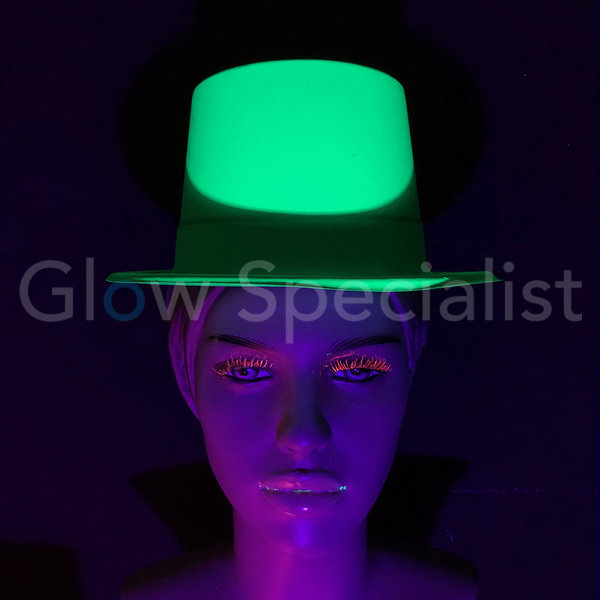 UV / BLACKLIGHT TOP HAT - NEON GREEN