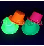 UV / BLACKLIGHT TOP HAT - NEON ORANGE