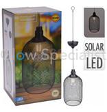 SOLAR LED HANGLAMP METAAL - Ø15CM - WARM WIT