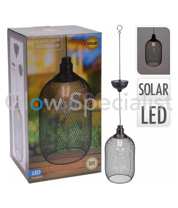 SOLAR LED HANGING LAMP METAL - Ø15CM - WARM WHITE