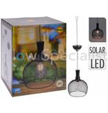 SOLAR LED HANGING LAMP METAL - Ø18CM - WARM WHITE