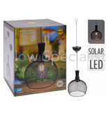 SOLAR LED HANGLAMP METAAL - Ø18CM - WARM WIT