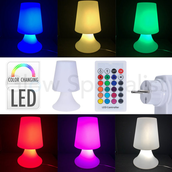 LED LAMP - COLOR CHANGING MET ACCU EN AFSTANDSBEDIENING