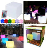 LED CUBE - COLOR CHANGING - RECHARGEABLE WITH REMOTE - 30x30x30CM