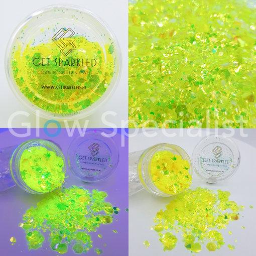 GET SPARKLED MOON GLOW YELLOW CHUNKY GLITTERMIX