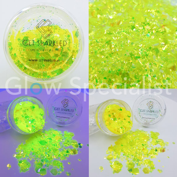 MOON GLOW YELLOW CHUNKY GLITTER MIX