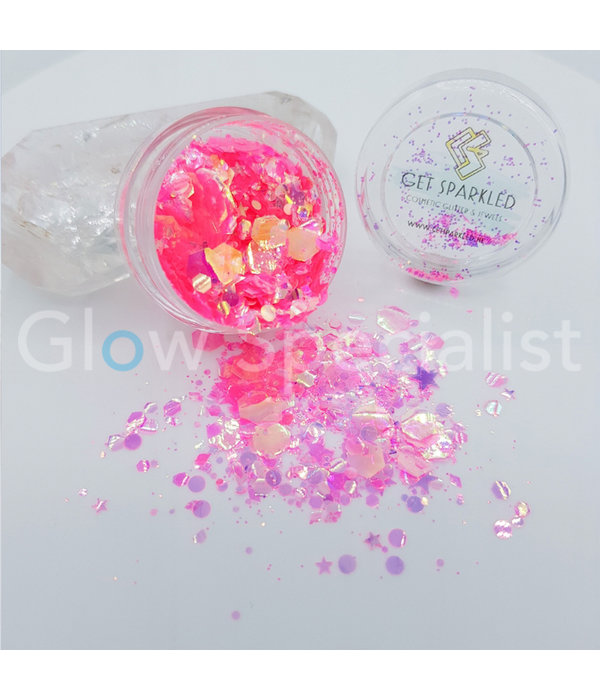 GET SPARKLED MOON GLOW PINK CHUNKY GLITTERMIX -  Glow Specialist