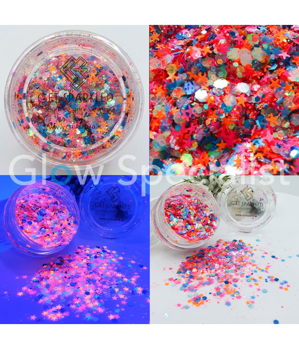 GET SPARKLED NEON NIGHTS CHUNKY GLITTERMIX
