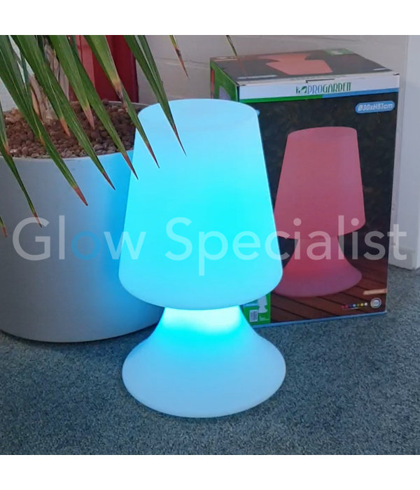 LED LAMP - COLOR CHANGING - RECHARGEABLE WITH REMOTE