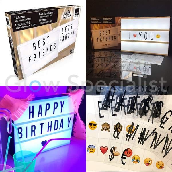 LED LIGHT BOX A4 - 10 LED - 100 LETTERS