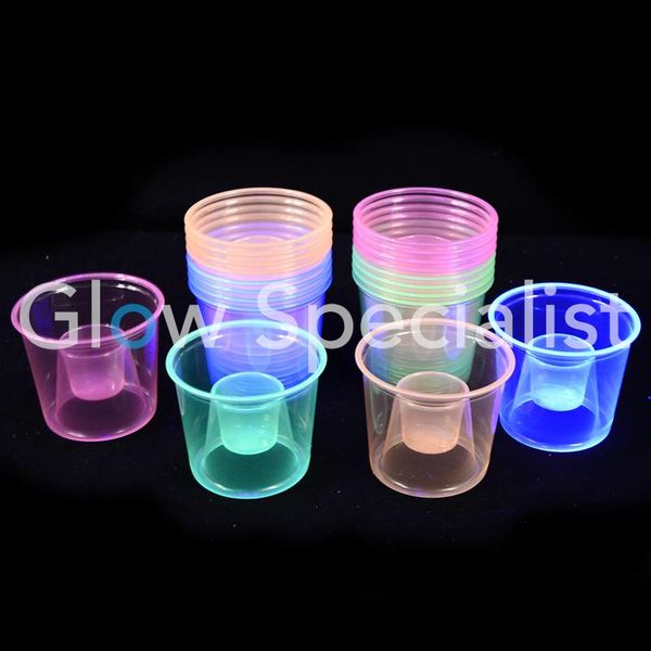 NEON BOMBER CUPS - ASSORTED - 20 PIECES