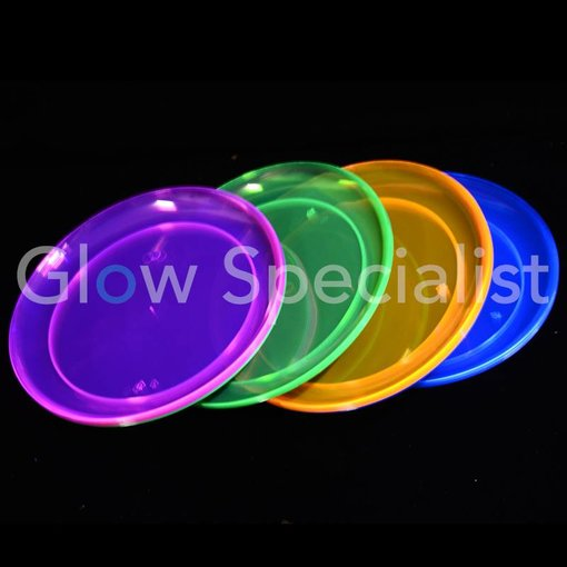 Party Essentials NEON PLATE - ASSORTED - 20 PIECES