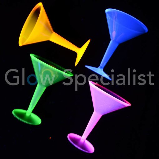 Party Essentials NEON MARTINI GLASS - ASSORTED - 12 PIECES