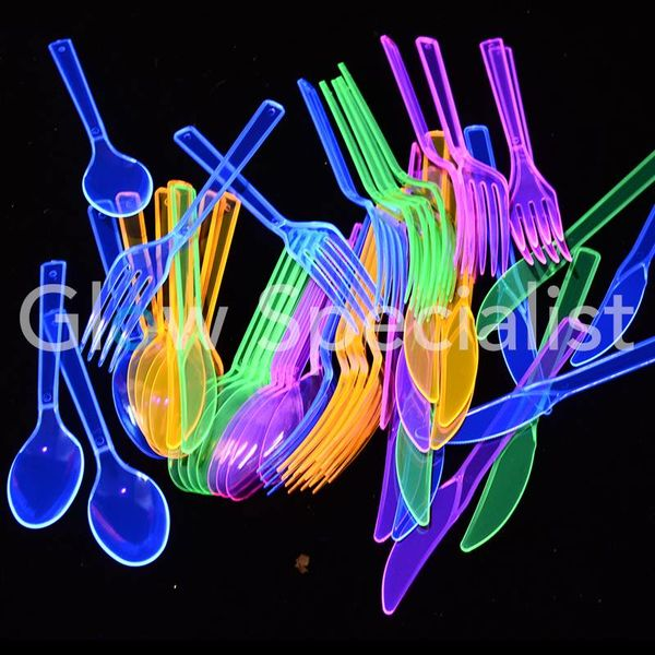 NEON CUTLERY - ASSORTED - 48 PIECE