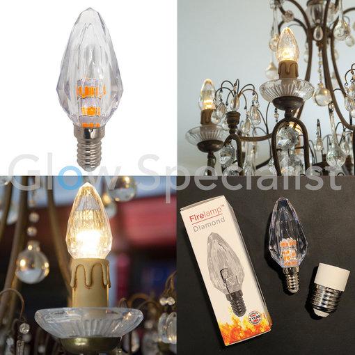 Firelamp FIRELAMP™ DIAMANT LAMP - E14/E27 - DIMBAAR