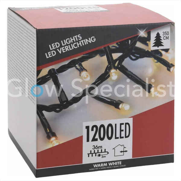 LED CLUSTER LIGHTING - 1200 LIGHTS - WARM WHITE - 36M