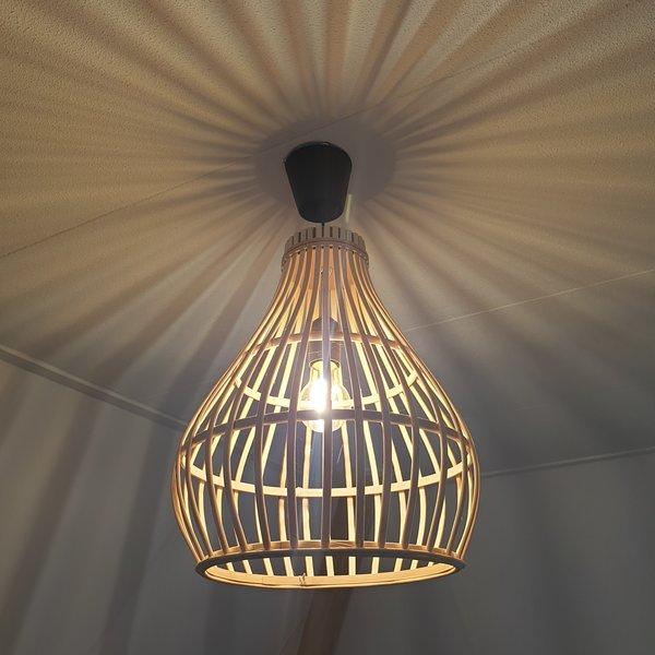 BAMBOO LAMP - NATURAL - 32 X 39 CM