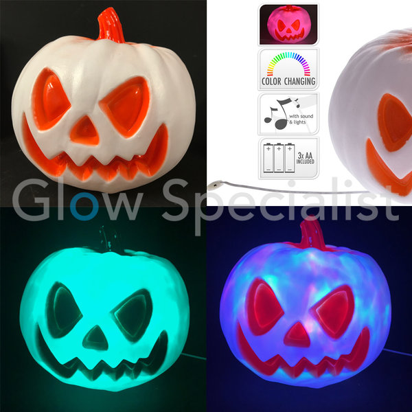 HALLOWEEN LED PUMPKIN WITH LIGHT AND SOUND