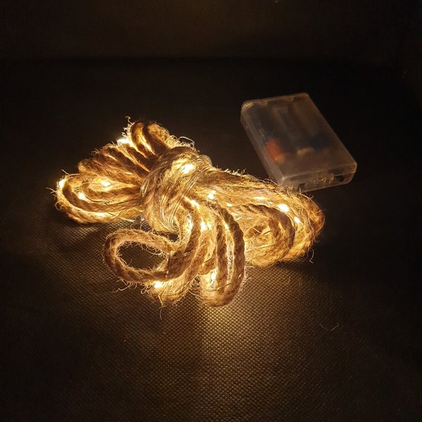 ROPE WITH LIGHT - 5 M - 50 LED - WARM WHITE