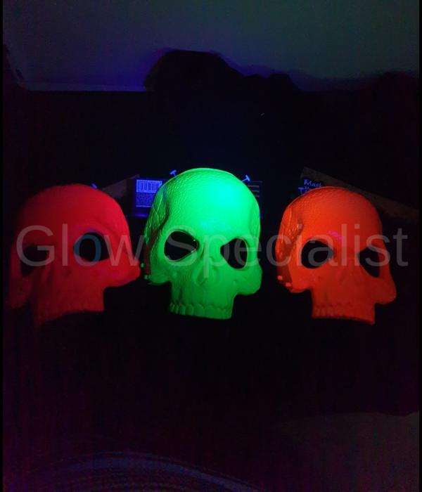 UV/BLACKLIGHT  SKELET MASKER - 3 KLEUREN
