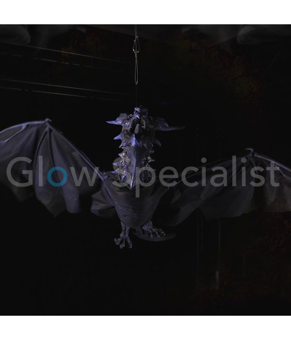 Europalms HALLOWEEN FLYING DRAGON 120 CM - WITH LIGHT AND SOUND