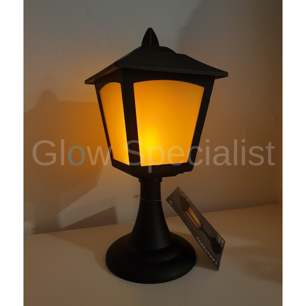 LED LANTERN WITH FLAME EFFECT AND TIMER - 27 CM