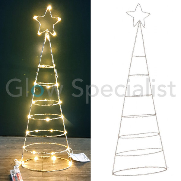 CHRISTMAS DECORATION WITH 30 LED - CHAMPAGNE GOLD - 57 CM