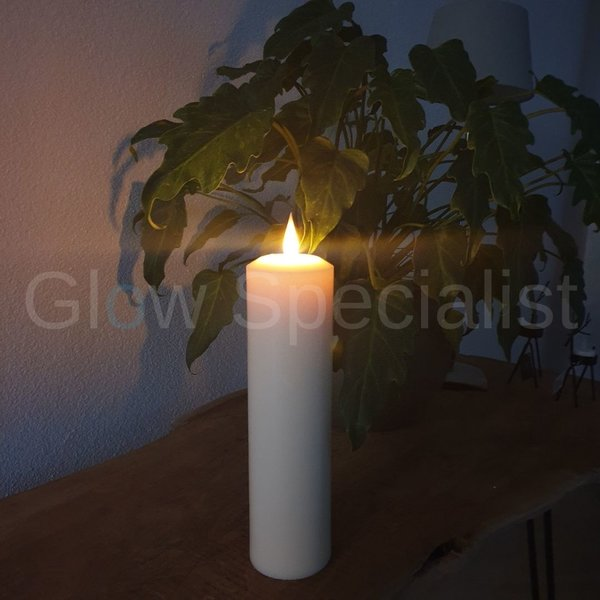 LUXURY LED CANDLE - WITH REMOTE CONTROL - HANDMADE - LARGE - 28 CM