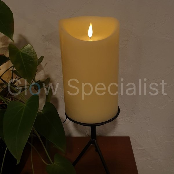 SIMUFLAME  LED CANDLE -  WITH REMOTE CONTROL - 25 CM