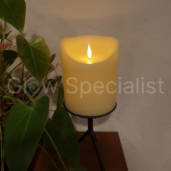 SIMUFLAME  LED CANDLE -  WITH REMOTE CONTROL - 18 CM