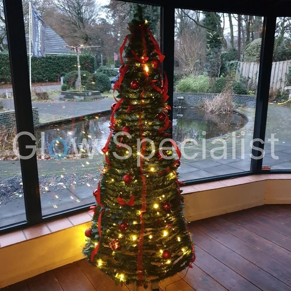 POP-UP CHRISTMAS TREE INCL. DECORATION AND LIGHTS - GREEN - 180 CM